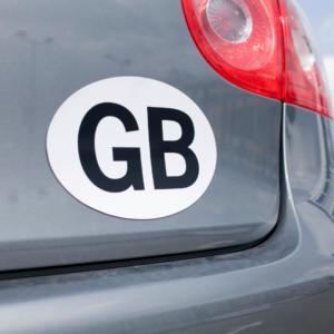 GB Sticker on car